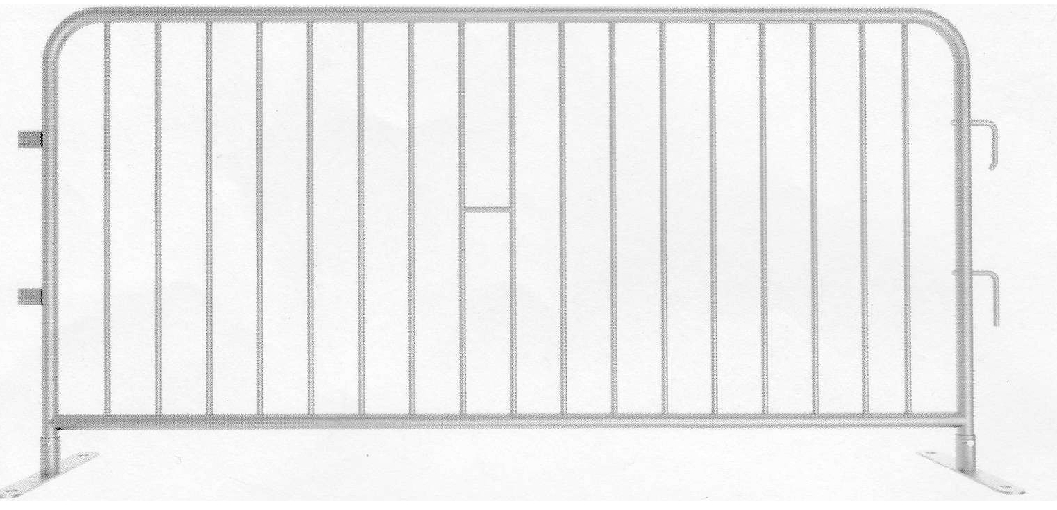 This model is the only one not made of aluminum. Instead it is made of steel for a sturdier construction. It is also one of our most cost-effective temporary barricades, and is offered in bulk.