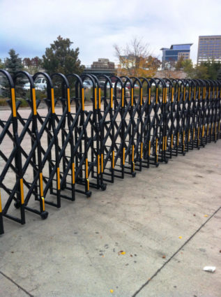 municipal series flat strap pedestrian safety barriers